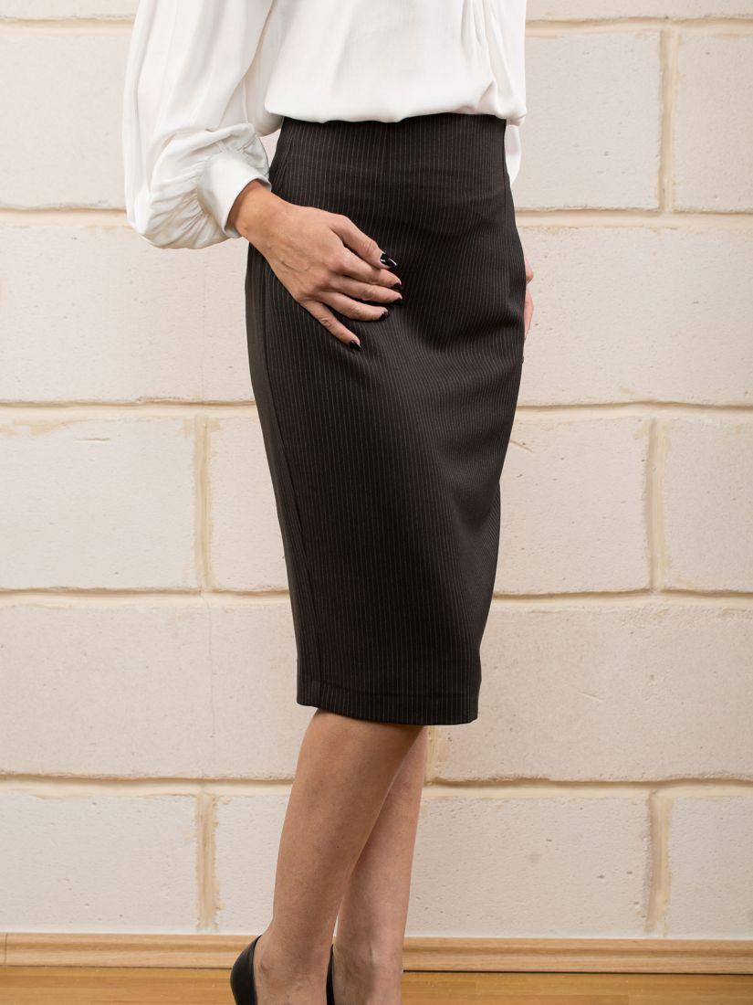 Φούστα πένσιλ ελληνικής ραφής με ρίγα μαύρο