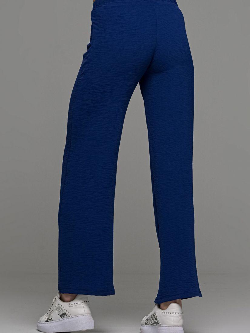 Παντελόνι ελληνικής ραφής με λάστιχο στη μέση μπλε